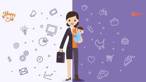 O treime dintre mamele care lucrează spun că au găsit echilibrul între job și familie