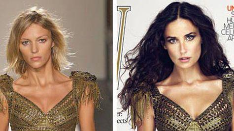 Demi Moore, retusata pe coperta revistei W?