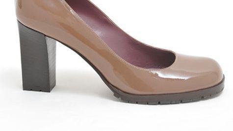 Pantofi din piele lacuita Pollini