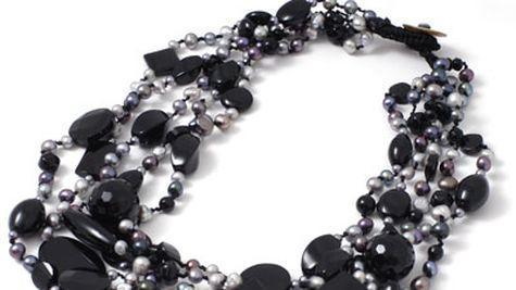Colier cu onix si perle negre naturale, Laura Bellini