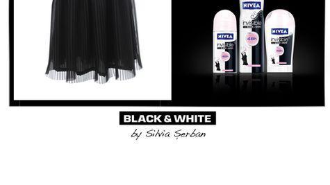 Asorteaza-te in alb si negru. Tinuta perfecta indiferent de ocazie. (P)