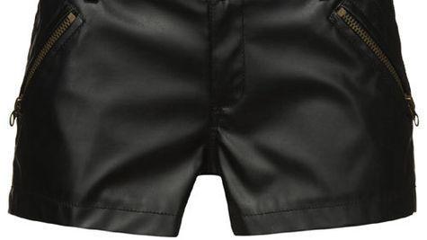 Pantaloni scurti din piele ecologica, New Yorker