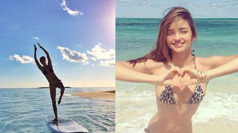 Star style: vedetele au pozat in costum de baie pe instagram