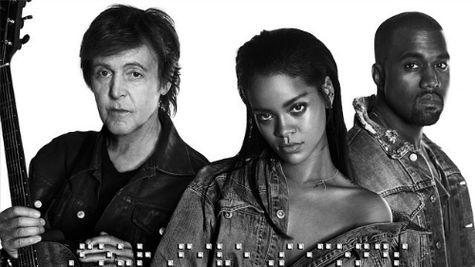 Rihanna, Paul McCartney si Kanye West – un trio inedit!