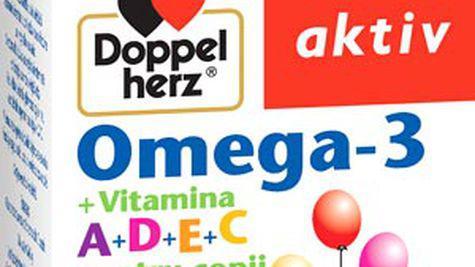 Doppelherz aktiv Omega-3 cu Vitamine A+D+E+C pentru copii