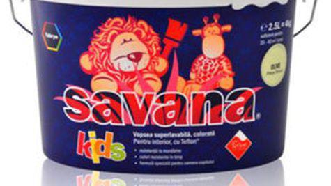 Vopseaua superlavabila Savana Kids pentru camerele de copii