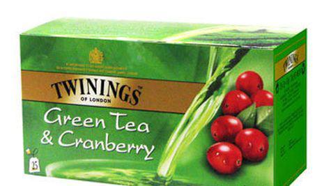 Ceai verde Twinings cu aroma naturala a fructelor de merisor
