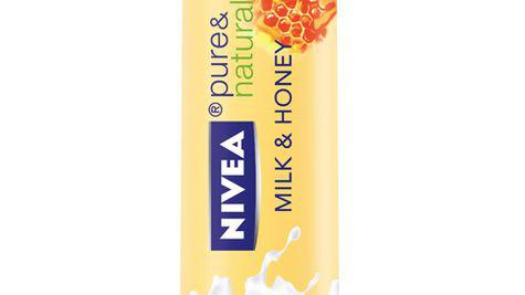 Balsam de buze NIVEA pure & natural Milk & Honey