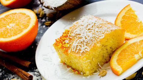 Prajitura din gris cu portocale