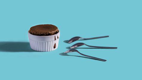 Souffle cu Nutella din doar doua ingrediente
