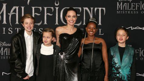 Copiii Angelinei Jolie, alături de mama lor la premiera filmului Maleficent